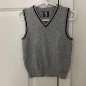 Boys H&M 3-4y Gray Sweater Vest